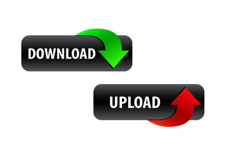 download and upload button design 向量圖像