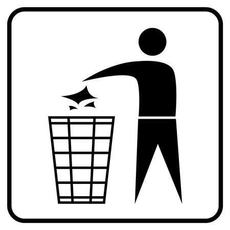 no littering sign vector 向量圖像