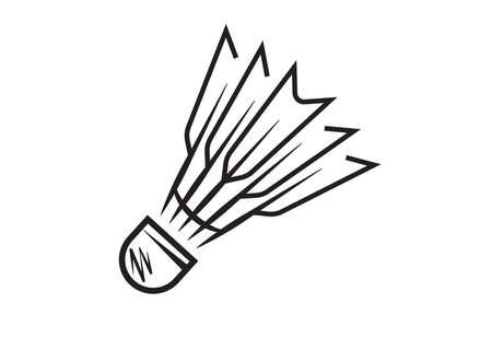 shuttlecock sport object icon