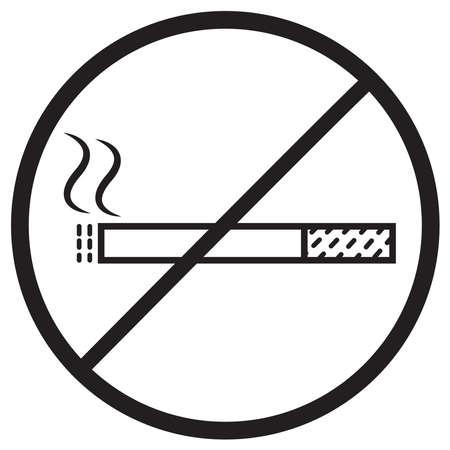 no smoking outline icon Ilustracja