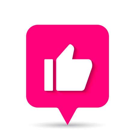thumb up social media icon notification
