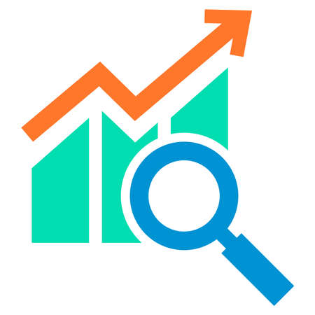 analysis growth icon design