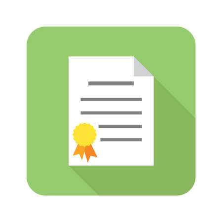 certificate paper document icon
