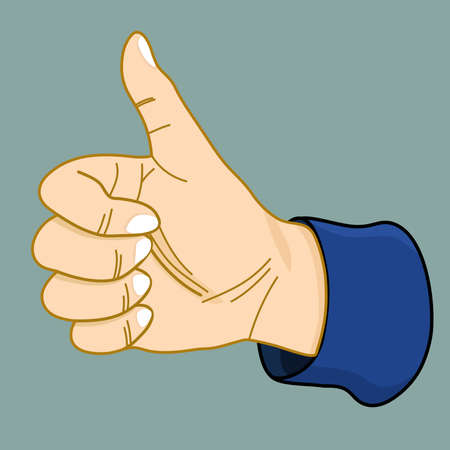 hand like gesture illustration background.
