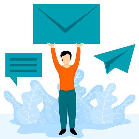 messages communication illustration Ilustracja