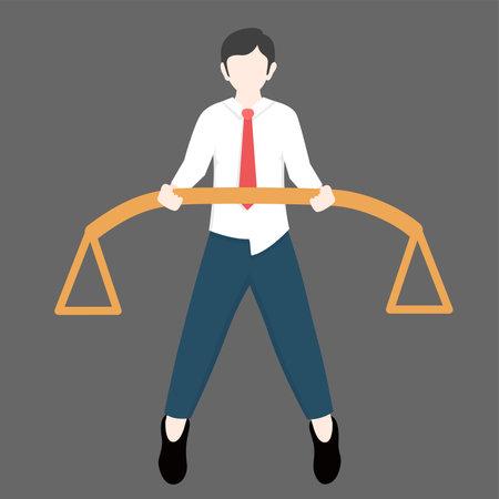 business holding balancer Ilustracja