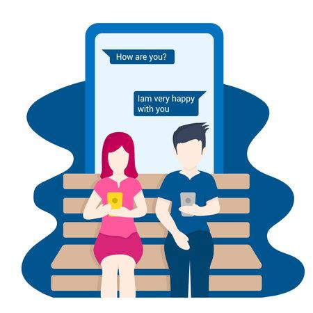 social media distance illustration