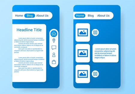 mobile app user interface template Stockfoto - 161847292