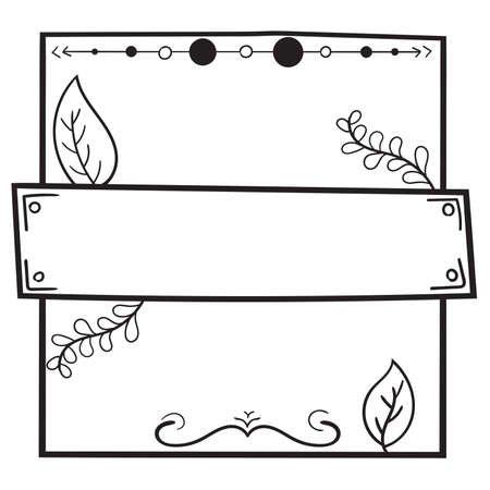 frame border design with nature decoration