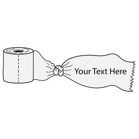 tissue toilet paper banner space text vector design Stock Illustratie