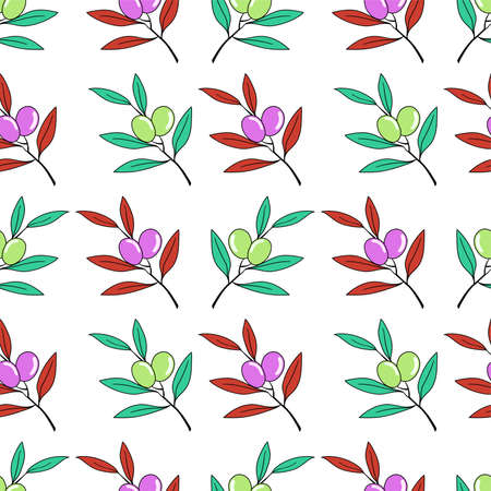 colorfull berry repeat pattern. textile mosaic design
