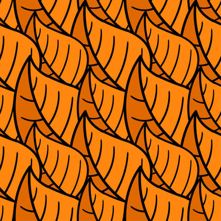 autumn leaf seamless pattern textile print. Great for summer vintage fabric, scrapbooking, wallpaper, giftwrap. repeat pattern background design