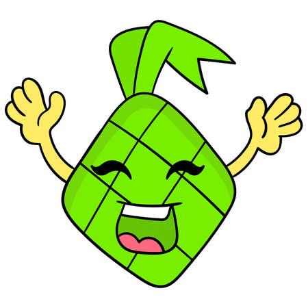 Eid food cartoons, vector illustration carton emoticon. doodle icon drawing