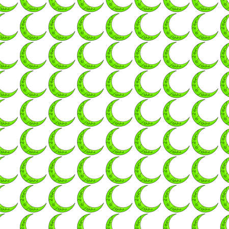 crescent moon seamless pattern textile print. Great for summer vintage fabric, scrapbooking, wallpaper, giftwrap. repeat pattern background design 向量圖像