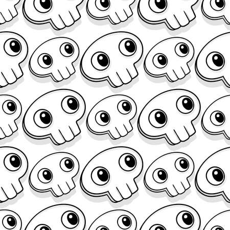 skull mask cute seamless pattern textile print. Great for summer vintage fabric, scrapbooking, wallpaper, giftwrap. repeat pattern background design 向量圖像