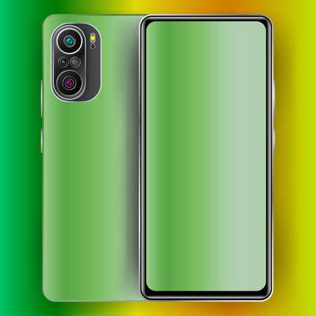 realistic smartphone design. three dimensions technology design