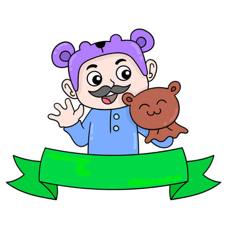 happy father day banner template that always makes his child happy, vector illustration art. doodle icon image kawaii.