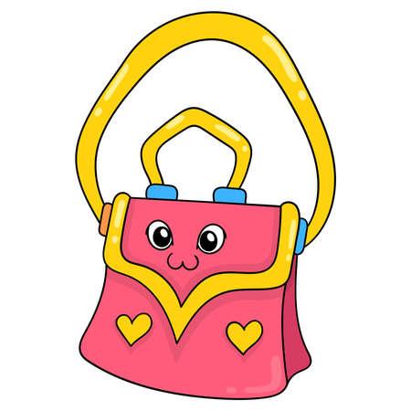 beautiful and luxurious women bag, vector illustration art. doodle icon image kawaii.