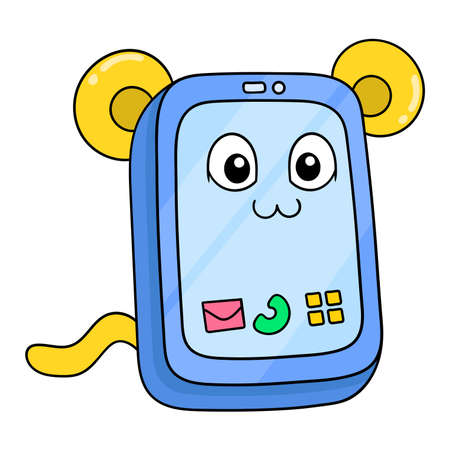 cute and sophisticated smartphone, vector illustration art. doodle icon image kawaii.