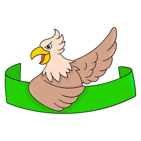 garuda eagle banner template, vector illustration art. doodle icon image kawaii.