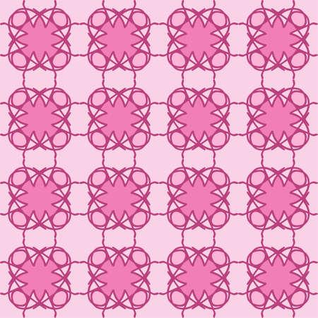 vector illustration vintage floral interior seamless flat design pink magenta peach rose background 向量圖像