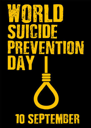 World Suicide Prevention Day September 10 campaign concept vector illustration