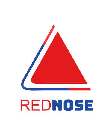 red nose logo concept design vector illustration