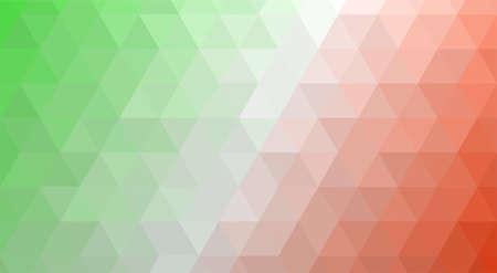 Italy polygonal flag mosaic modern background. Geometric design vector illustration