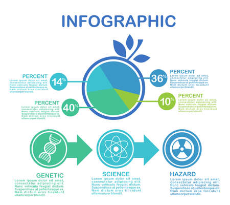 Business data visualization. Process chart. Abstract elements of graph, diagram with steps, options, parts or processes. Vector business template for presentation. Creative concept for infographic