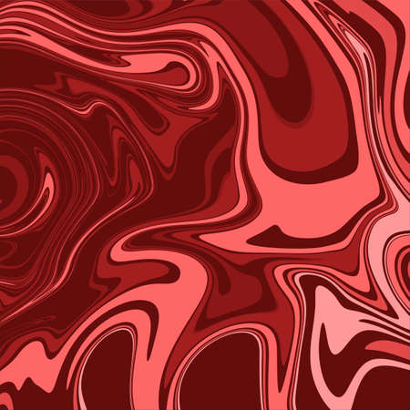 red color psychedelic fluid art abstract background concept design vector illustration