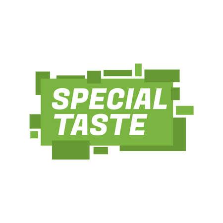 special taste product tag sign design vector illustration