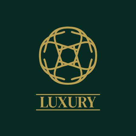 Mandala Geometric ornament Elegant premium icon vector design
