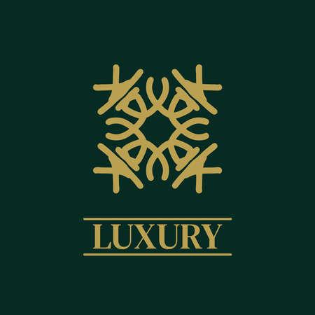 Mandala Geometric ornament logo Elegant premium icon vector design