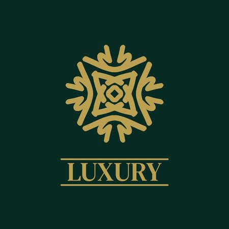Mandala Geometric ornament logo Elegant premium icon vector design Logo