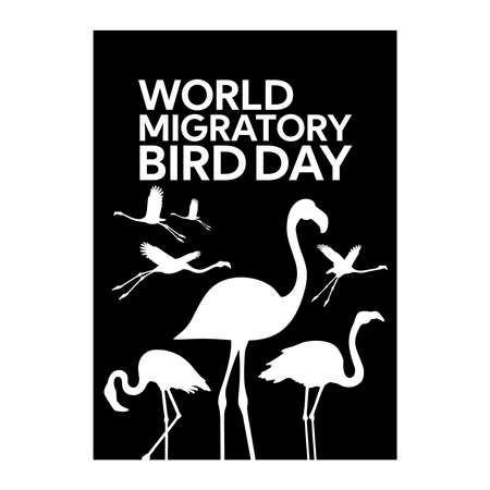 flamingo world migratory bird day poster design vector illustration Vecteurs