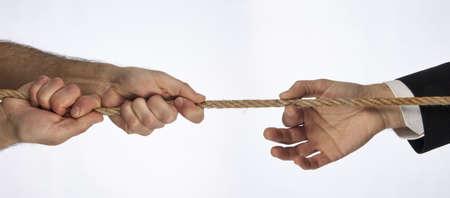grip: Hands that do tug of war