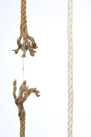 Frayed rope on a white background Stock Photo - 12882007