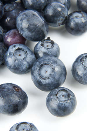 cholesterol free: Blueberries on white background