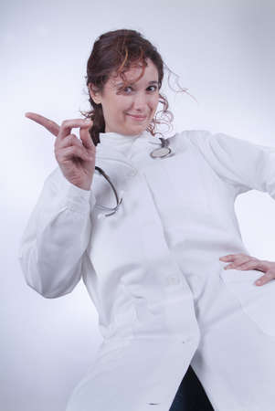 Female Doctor says no moving her finger Stock Photo - 13545713