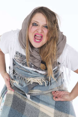 Shooting in studio young gypsy angry Stock Photo - 20948005