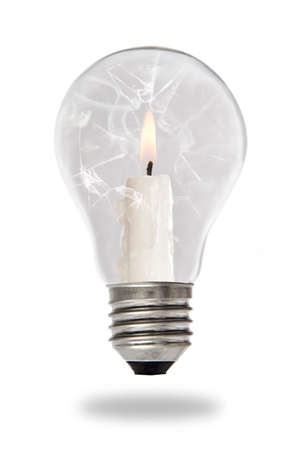 tungsten: Candle lit steaming inside a tungsten bulb type
