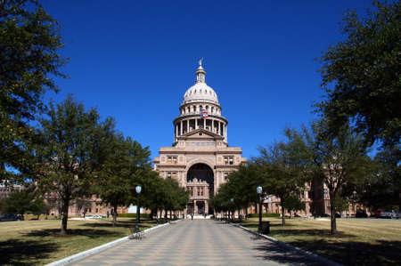 austin: Die Texas State Capitol Building Eingang von der Innenstadt von Austin.