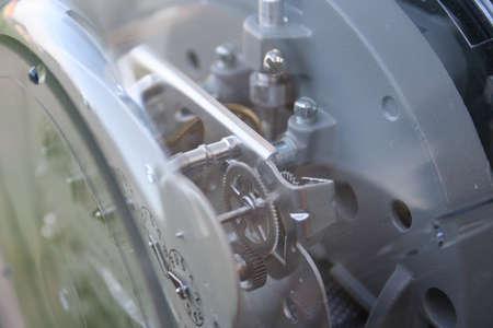contador electrico: dentro de un medidor de electricidad  Foto de archivo