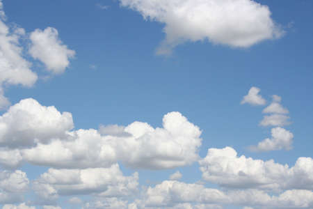 a bright summer day with nice clouds above