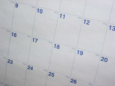 A nice shot of a calendar month. This shot makes a great background. Imagens