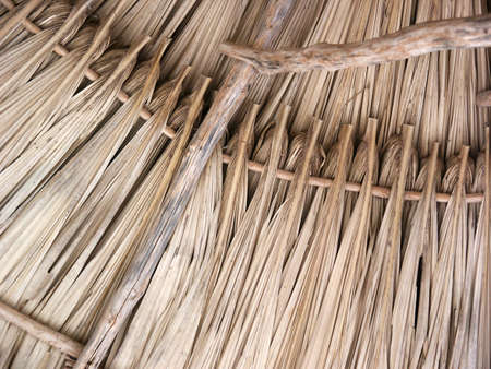A thatched roof pattern.  Great as a background.
