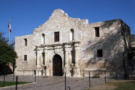 The front of the Alamo in San Antonio, Texas. Imagens