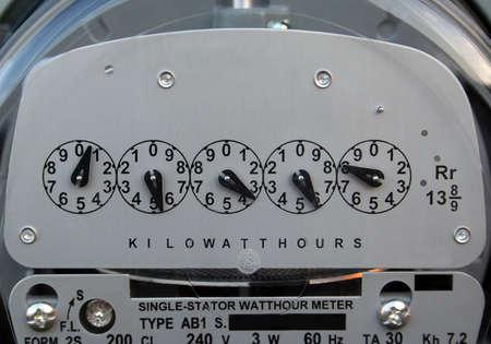 Een close-up van een elektrische meter.