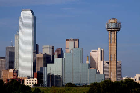 A section of buildings in the Dallas Texas Skyline. Imagens