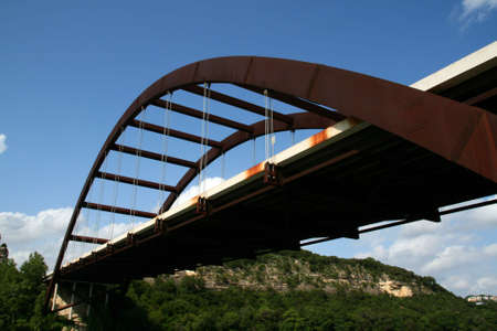 The Austin 360 bridge from an artistic view. photo